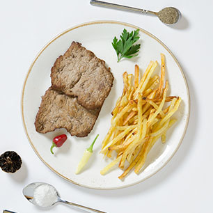veal cutlet (with garnish)